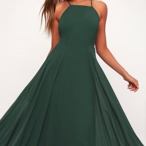 Lulus Dark Green Maxi Dress